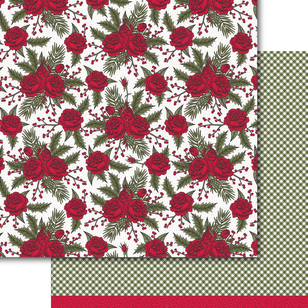 Winter Rose Paper Pack (15 sheets)