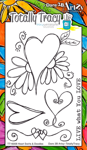 Hearts & Swirls (Totally Tracy) Stamp Set