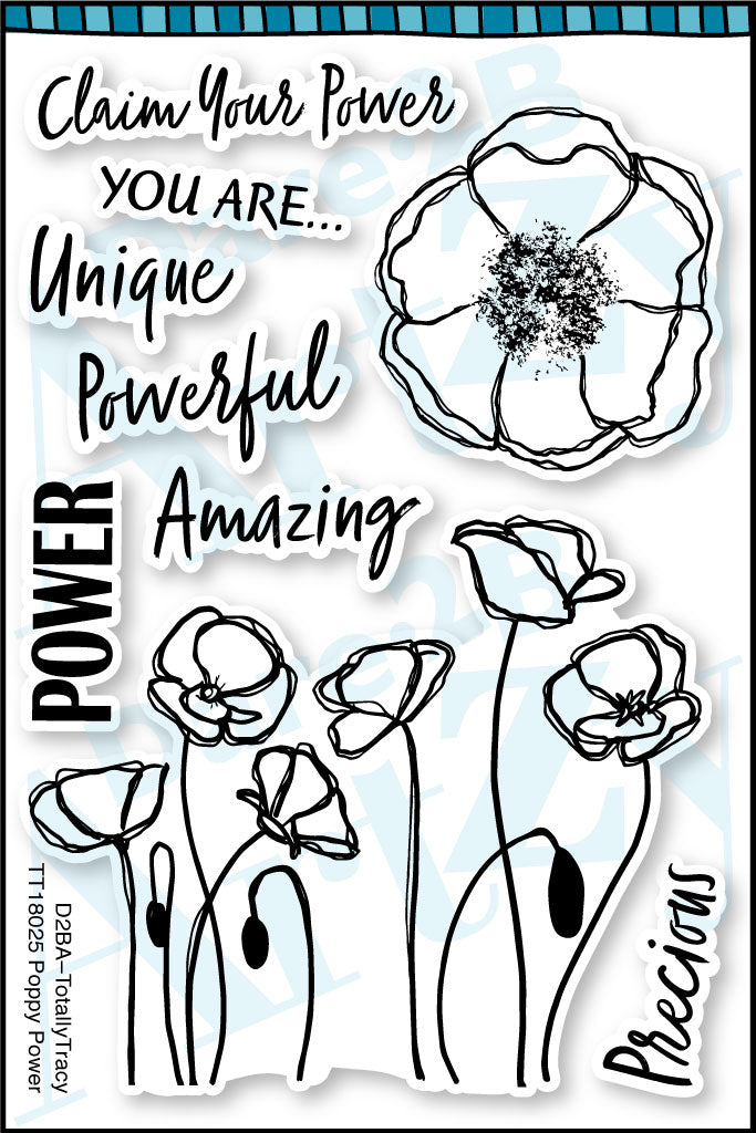 Poppy Power (Totally Tracy) Stamp Set