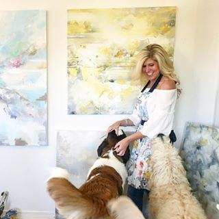 Shop Gallery Fine art Original Paintings and Canvas Prints Coastal Abstract Artwork Contemporary Textured Palette Knife Paintings Artist Christine Bell Christine Krainock