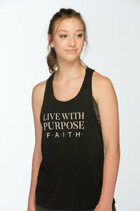 Live With Purpose Female sports apparel Tank