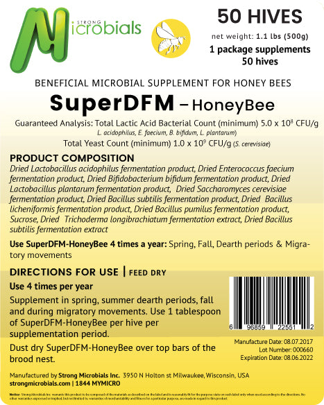 SuperDFM Honey Bee | 50 Hive Pack ($1.29/treatment)