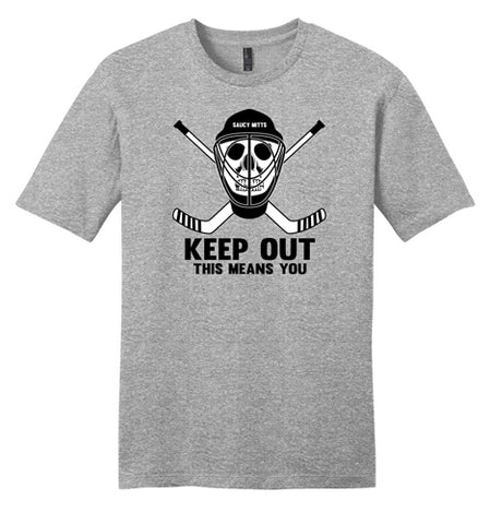 Goalie Hockey Skull Shirt - Keep Out