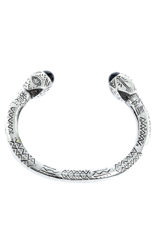 The Cayman Arrow Bangle - Silver Black