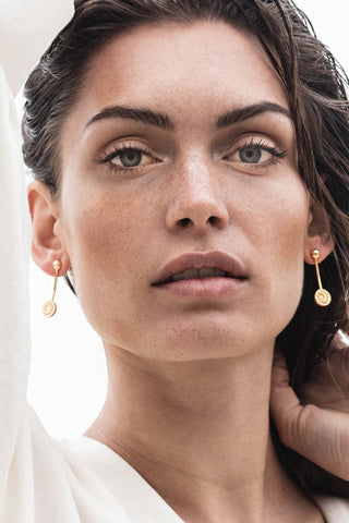 Sacred Sun Earrings - gold