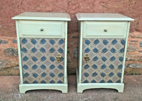 272.....Pair Of Vintage Bedside Cabinets / Upcycled Bedside Tables