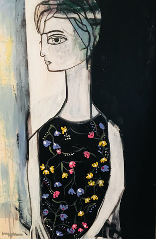 Woman With Flower Dress