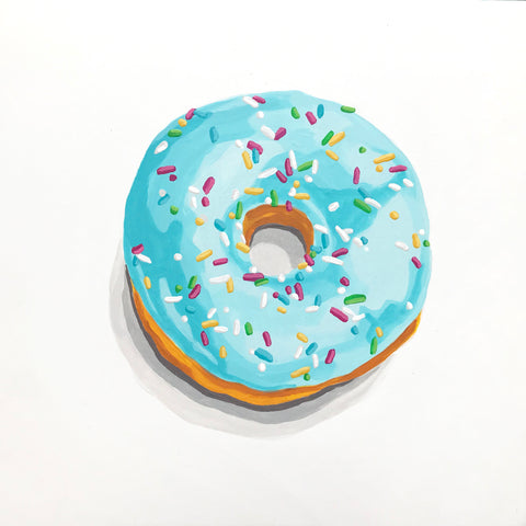 Blueberry Donut With Sprinkles