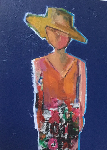 Sun Hatted Woman From Bora Bora