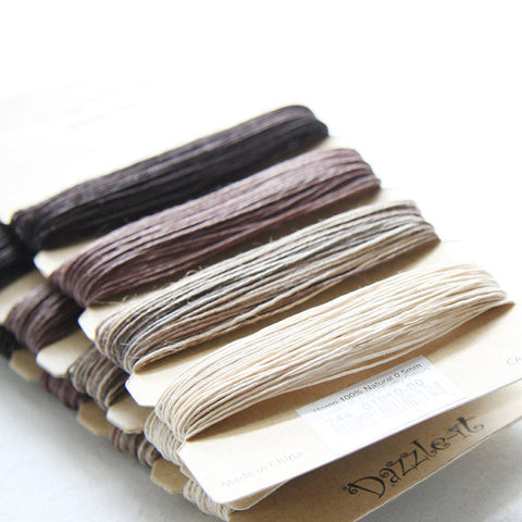 1 Package of Natural Hemp- 4 Colors- 41.9 feet - 0.5mm -10lb