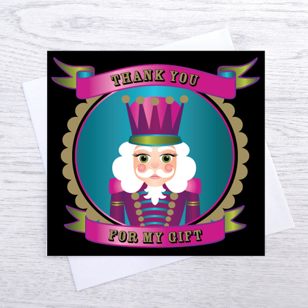 Pack of 5 Nutcracker Thank You Cards