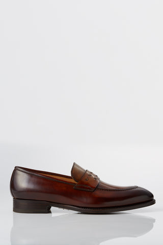 David August Suede Penny Loafer in Cosmos Blue