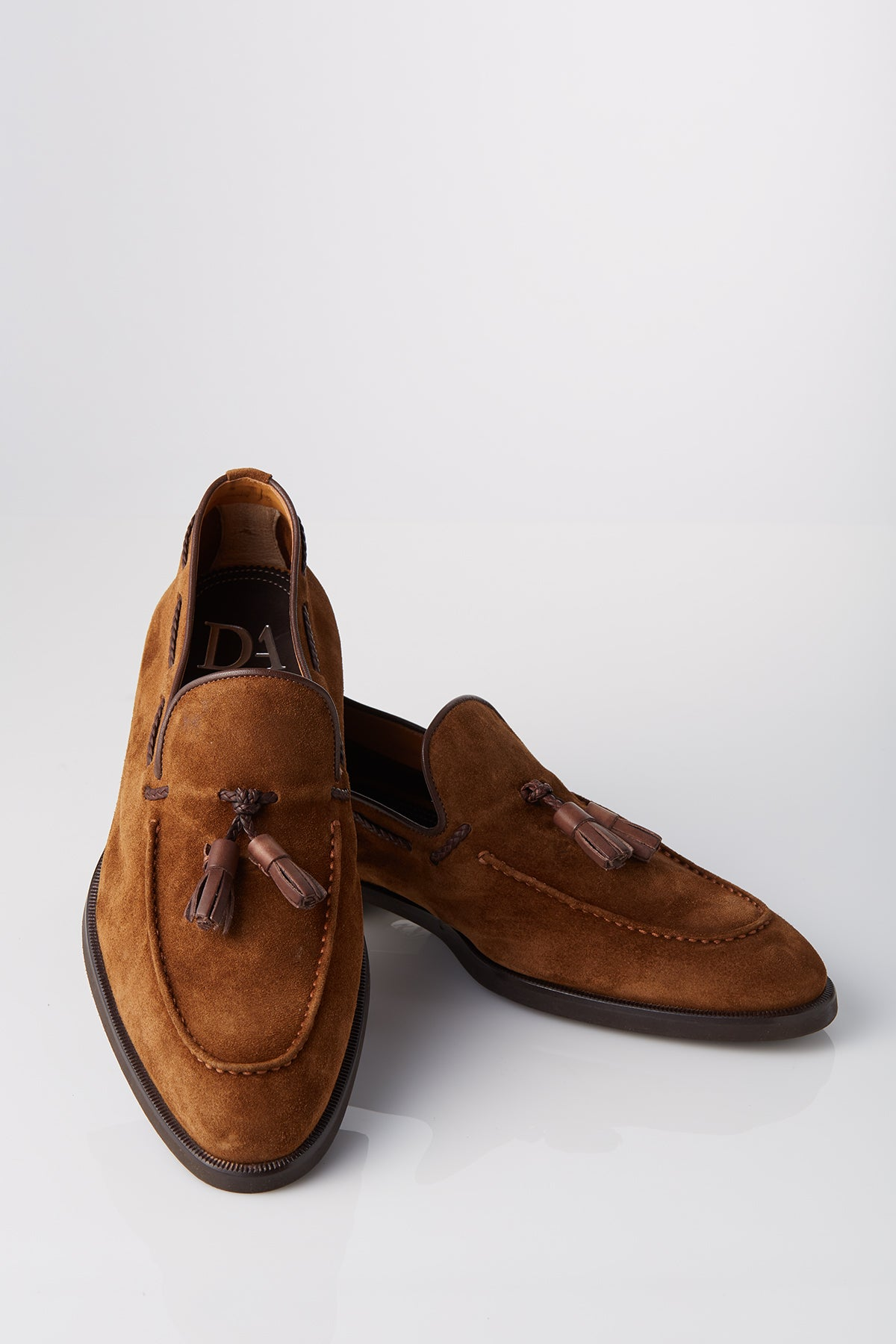 David August Suede Tassel Loafer in Cacao Brown Di Bianco