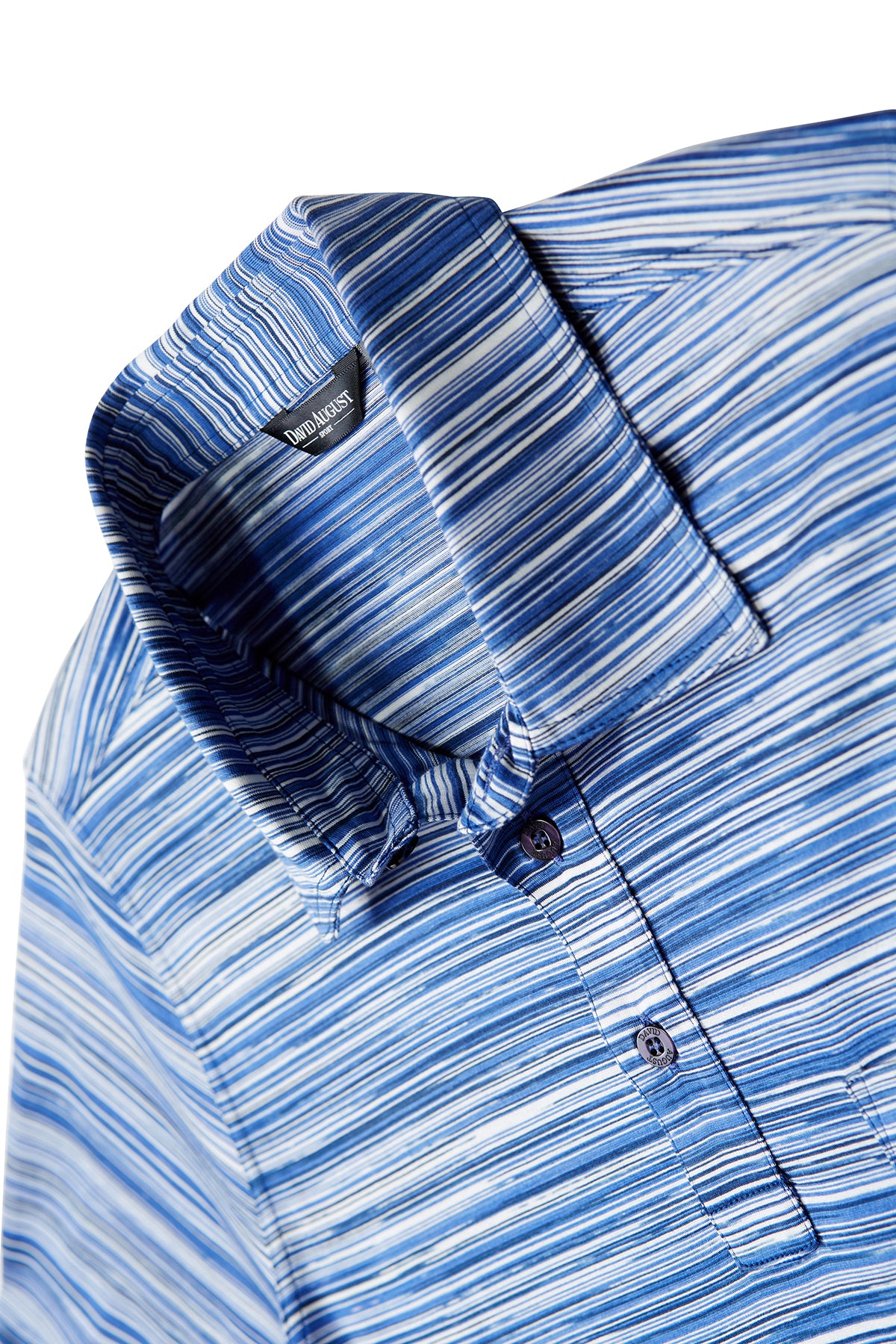Mosaic Blue Stripe Polo