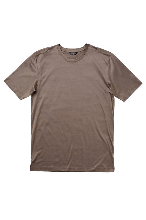 Luxury Mercerized Cotton T-Shirt Crew Neck in Terroir