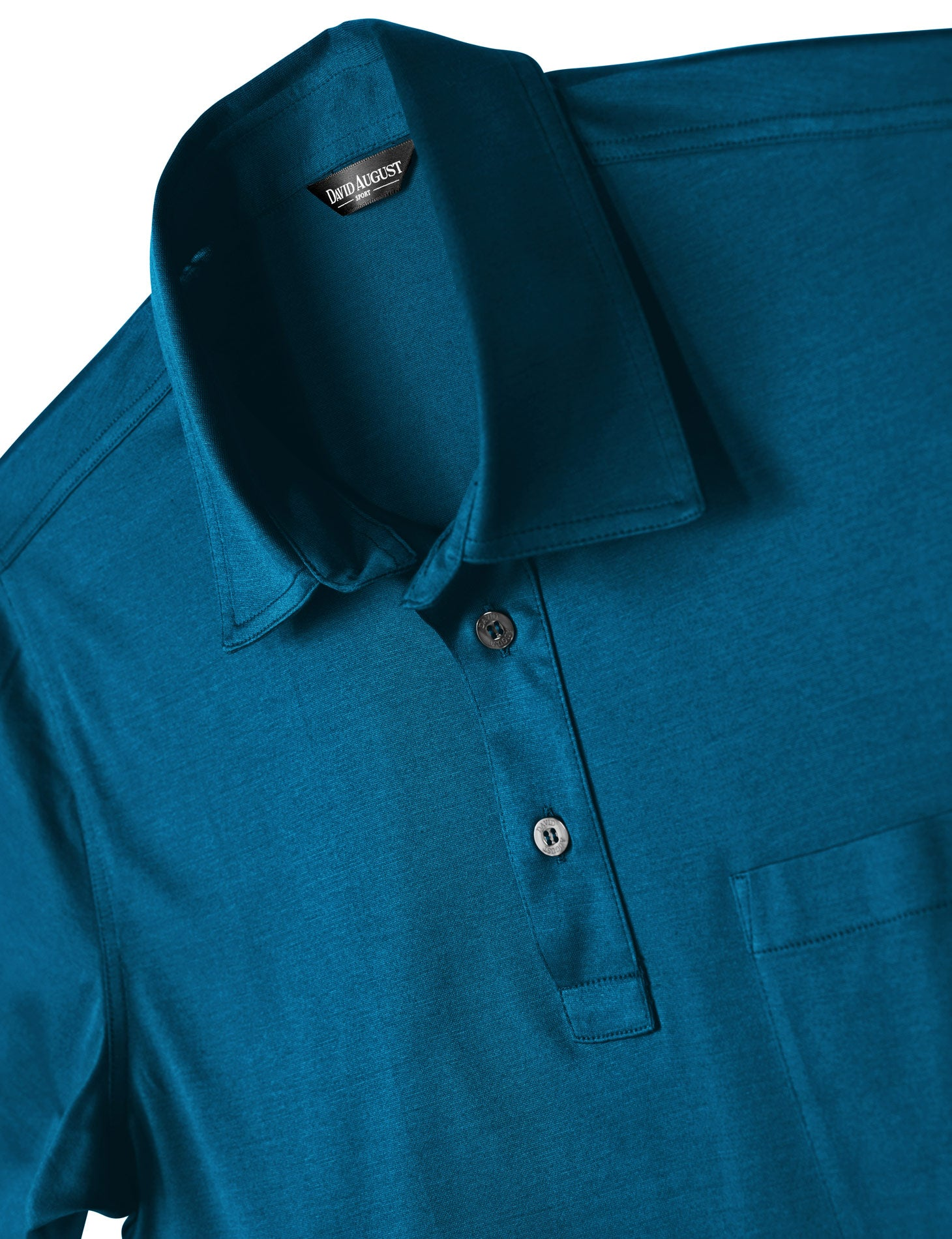 David August Mercerized Cotton Polo Teal