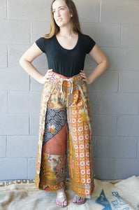 Quilted Paisleys Wrap Pants