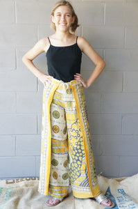 Lemon and Lime Wrap Pants