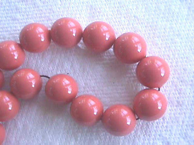 Coral Orange 12mm Swarovski Crystal Pearl Beads 12pc