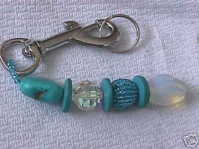 Swarovski Crystal & Turquoise Key Ring