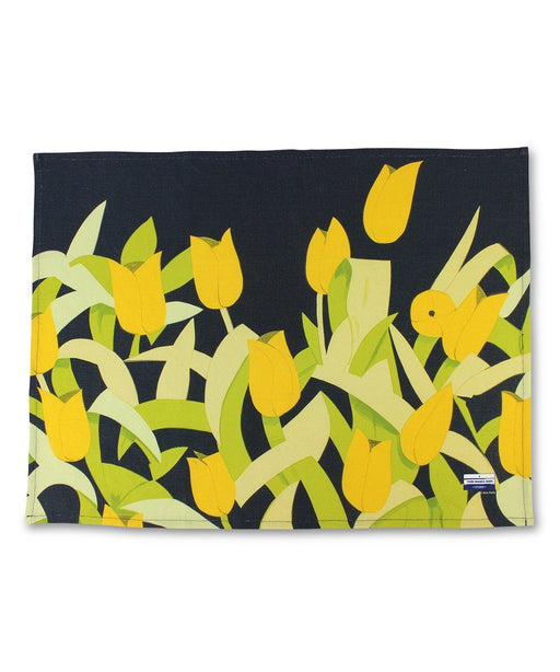 Tulips Linen Tea Towel x Alex Katz Textiles Third Drawer Down Studio