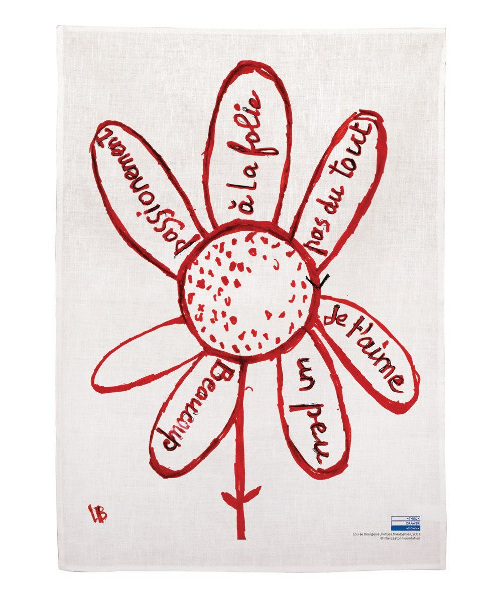 Virtues Theologales Linen Tea Towel x Louise Bourgeois Textiles Third Drawer Down Studio
