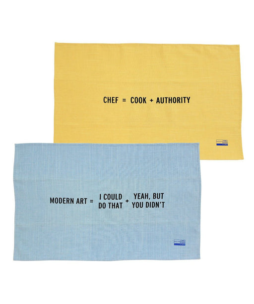 Tea Towels for the New Math Collection x Craig Damrauer Textiles Third Drawer Down Studio