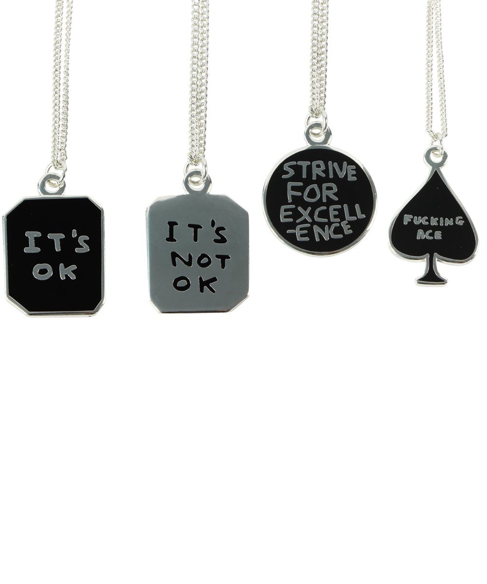 Third Drawer Down X David Shrigley, It's OK/It's Not OK Necklace Other Third Drawer Down Studio