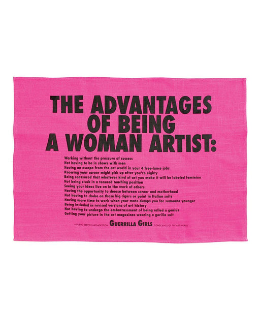 Third Drawer Down X Guerrilla Girls, Advantages Of Being A Woman Tea Towel Textiles Third Drawer Down Studio Default Title