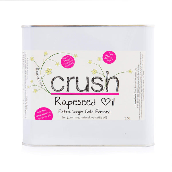 4 x Crush Cold Pressed Rapeseed Oil 2.5 Litre Tins [SPECIAL OFFER]