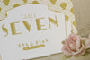 'Art Deco' Wedding Table Name Cards, Close Up