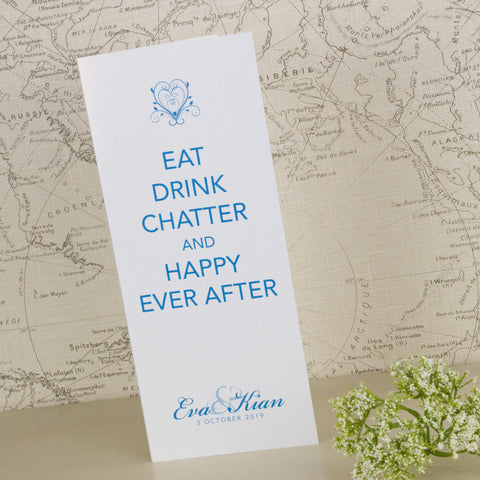 'Happy Ever After' Wedding Menu