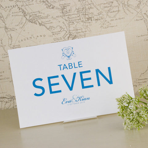 'Happy Ever After' Wedding Table Name Cards