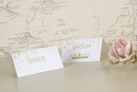 'Smile' Wedding Place Name Cards