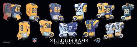 St Louis Rams throwback hertiage  jersey  plaque - Sports Nut Emporium