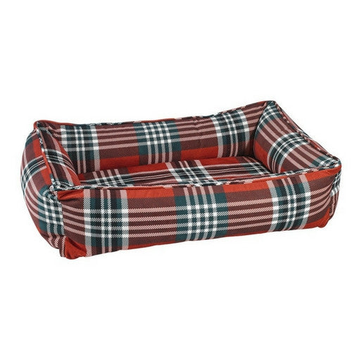 Bowsers MicroVelvet Urban Lounger Dog Bed — Royal Troon Tartan Plaid