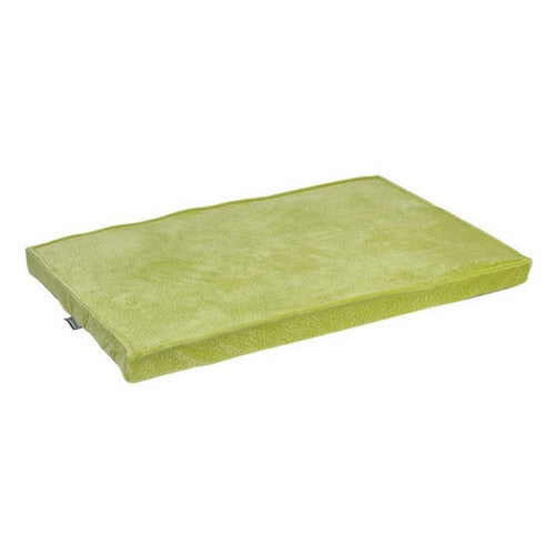 Bowsers MicroVelvet Cool Gel Memory Foam Mattress Crate Pad — Key Lime