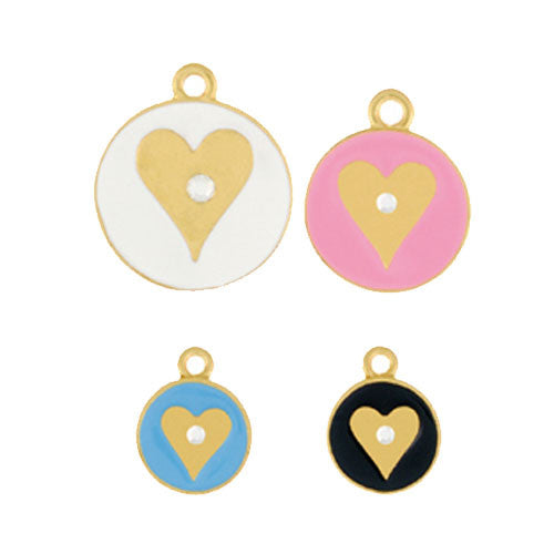 Cleopetra Handpainted Heart of Gold Dog ID Tag