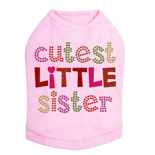 Dog In The Closet Cutest Big Sister Dog Tank Shirt Pink