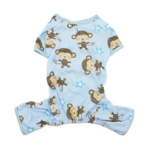 Dogo Pet Fashions Monkey PJ Four-Leg Dog Pajamas Back View