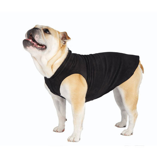 Gold Paw Series Stretch Fleece Pullover Dog Clothing — Black
