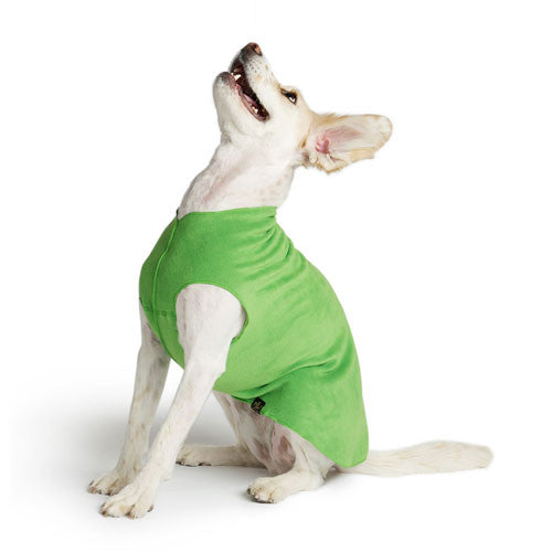 Gold Paw Series Stretch Fleece Pullover Dog Clothing — Grass Green