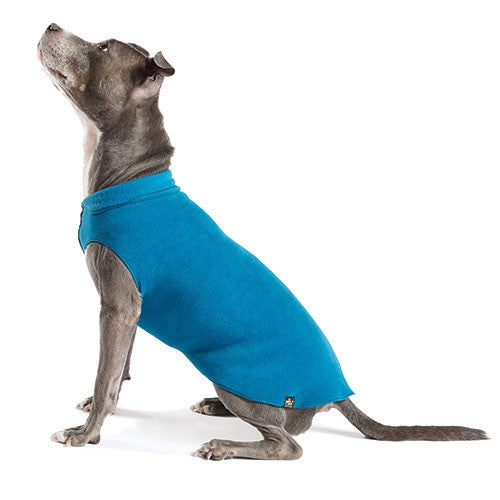 Gold Paw Series Stretch Fleece Pullover Dog Clothing — Marine Blue