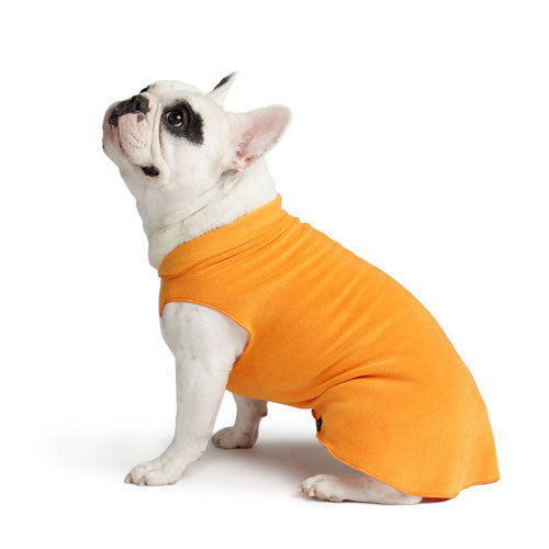 Gold Paw Series Stretch Fleece Pullover Dog Clothing — Pumpkin