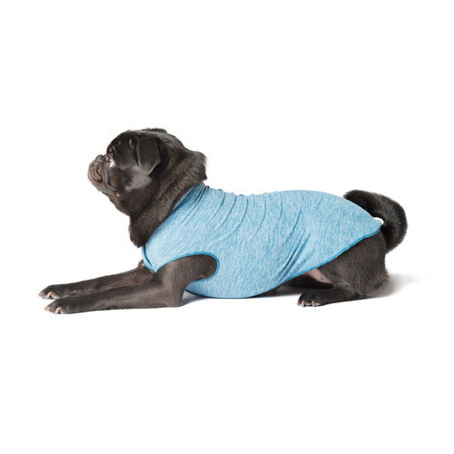 Gold Paw Series Sun Shield UV Protection Dog Tee Shirt Ocean Heather