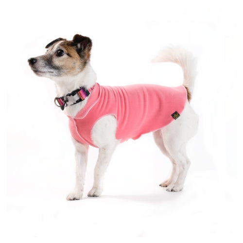 Gold Paw Series Stretch Fleece Pullover Dog Clothing — Coral