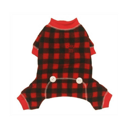 Hip Doggie Buffalo Check Lumberjack Jumper Dog Pajamas
