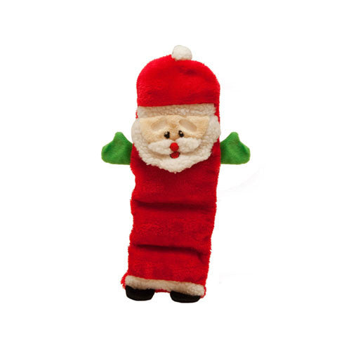 Kyjen Holiday Invincibles Santa Stuffing-Free Squeaker Dog Toy Large