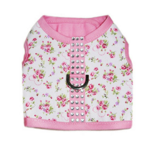Pooch Outfitters Eva Floral Fabric Velcro Closure Dog Harness