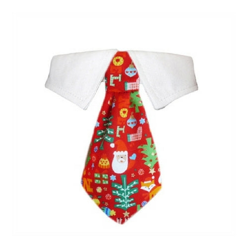 Pooch Outfitters Navidad Shirt Collar with Holiday Dog Tie